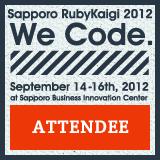 Sapporo Rubykaigi 2012 Attendee